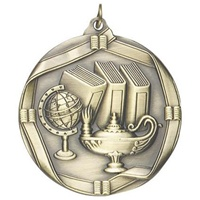 "2-1/4"" Lamp of Knowledge Medal MS612"