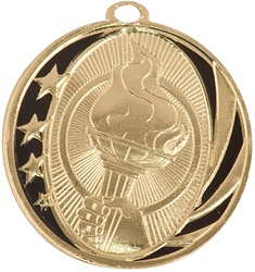 "2"" MidNite Star Series Victory Torch Medal MS709"