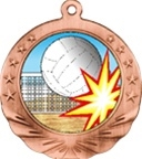 "2-3/4"" Motion Volleyball Medal MTN11"