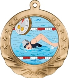 "2-3/4"" Motion Swimming Medal MTN14"
