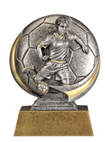 "5"" Motion Xtreme Girls Soccer Trophy"