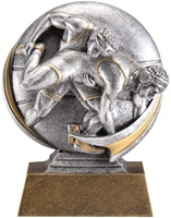 "5"" Motion Xtreme Wrestling Trophy"