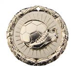 "2"" Shiny Wreath Soccer Medal NS102"