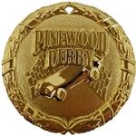 "2"" Shiny Wreath Pinewood Derby Medal NS24"
