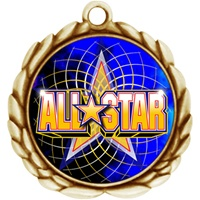 "2-1/2"" Wreath Color Insert All Star Medal O32A-FCL-402"