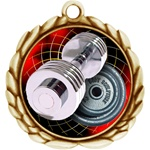 "2-1/2"" Wreath Color Insert Weight Lifting Medal O32A-FCL-574"