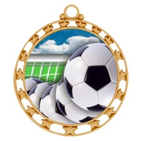 "2-1/2"" Superstar Color Insert Soccer Ball Medal O34A-FCL-40"