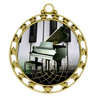 "2-1/2"" Superstar Color Insert Piano Medal O34A-FCL-524"