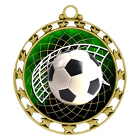 "2-1/2"" Superstar Color Insert Soccer Medal O34A-FCL-542"