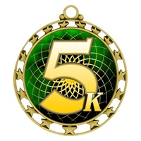 "2-1/2"" Superstar Color Insert 5K Race Medal O34A-FCL-578"
