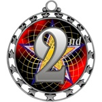 "2-1/2"" Superstar Color Insert 2nd Place Medal O34A-FCL-582"