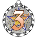 "2-1/2"" Superstar Color Insert 3rd Place Medal O34A-FCL-583"