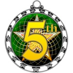 "2-1/2"" Superstar Color Insert 5th Place Medal O34A-FCL-585"