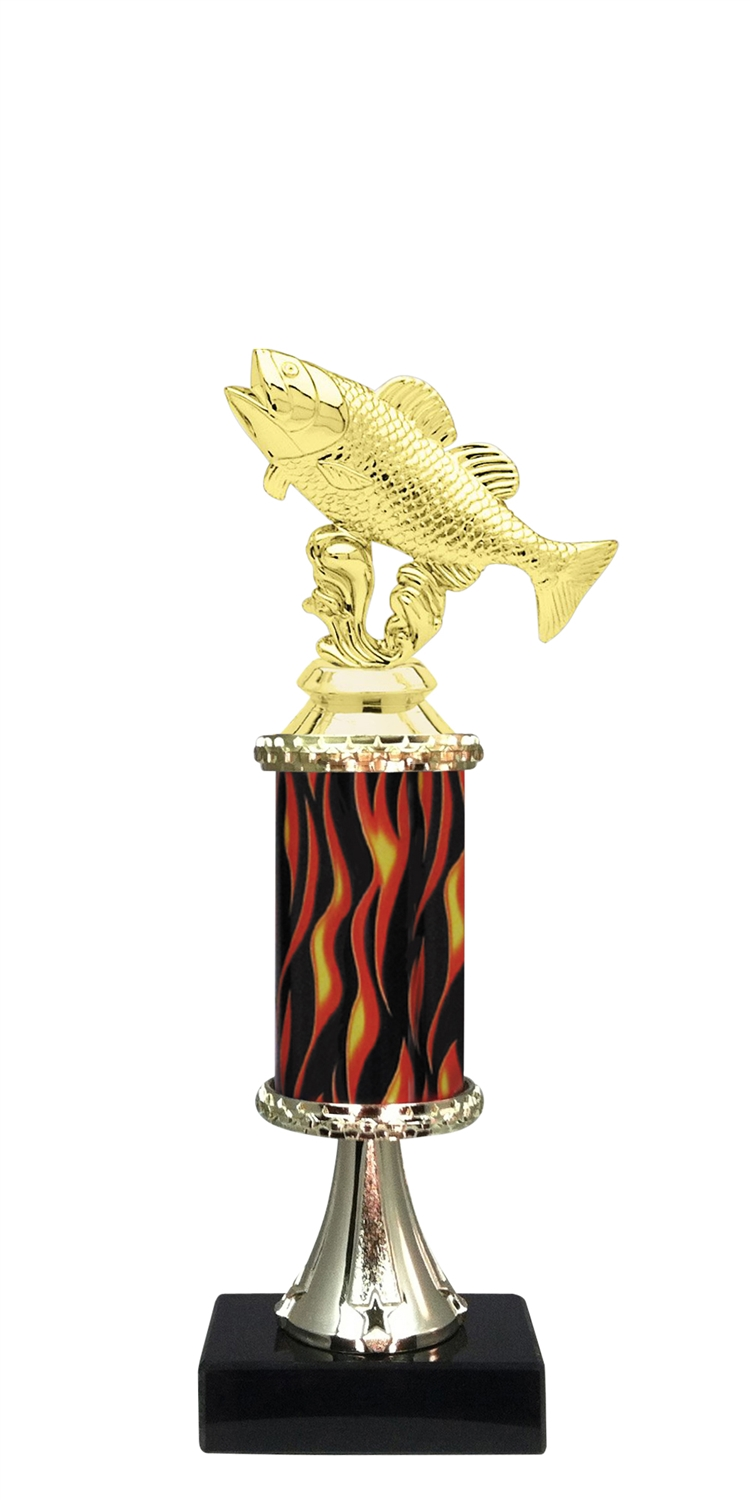 Fishing Trophy on Marble Base