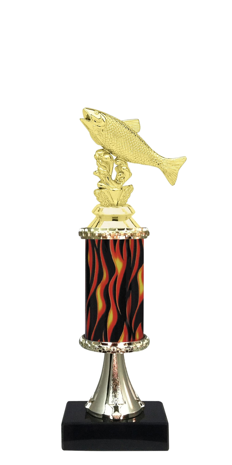 Salmon Trophy on Marble Base