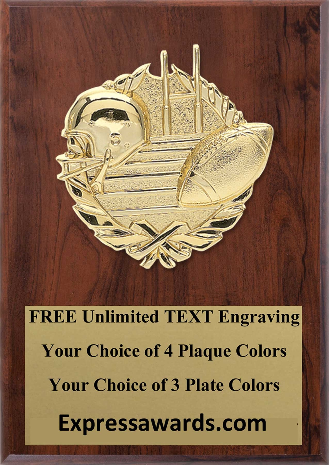 Football Plaque 4x6 & 5x7