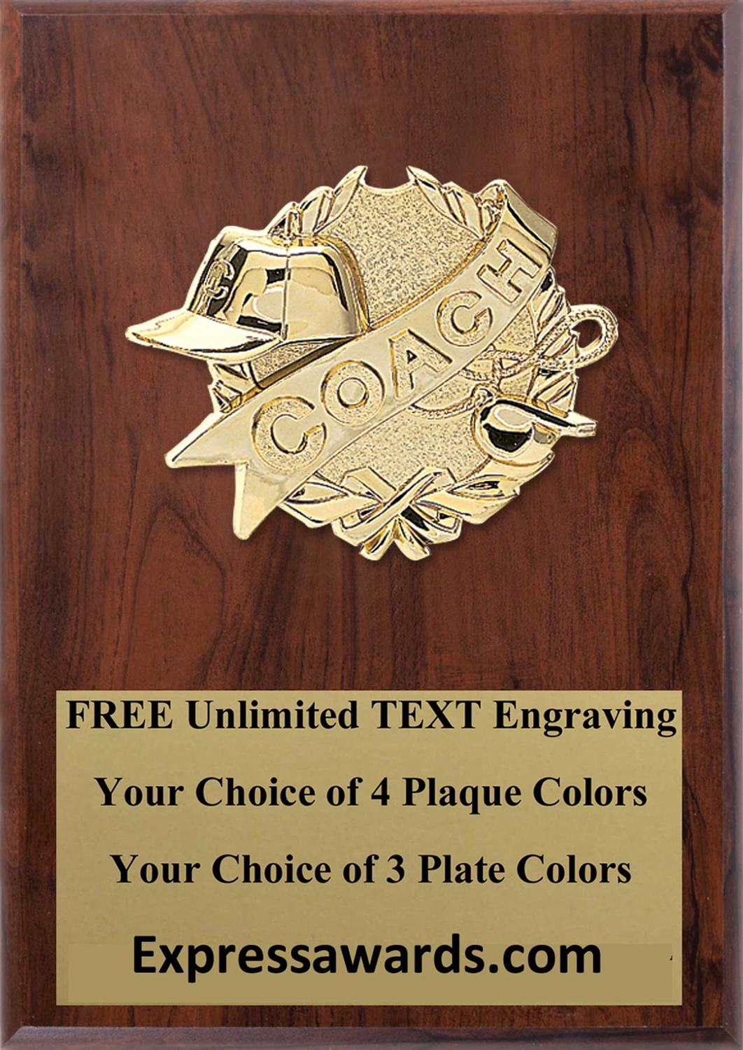 Coach Plaque 4x6 & 5x7