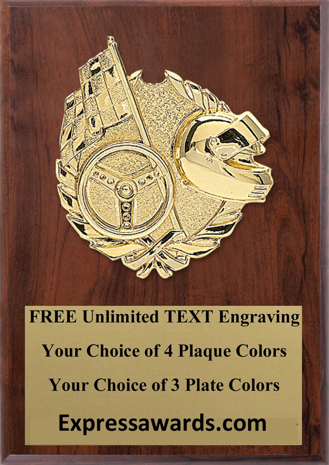 Racing Plaque 4x6 & 5x7