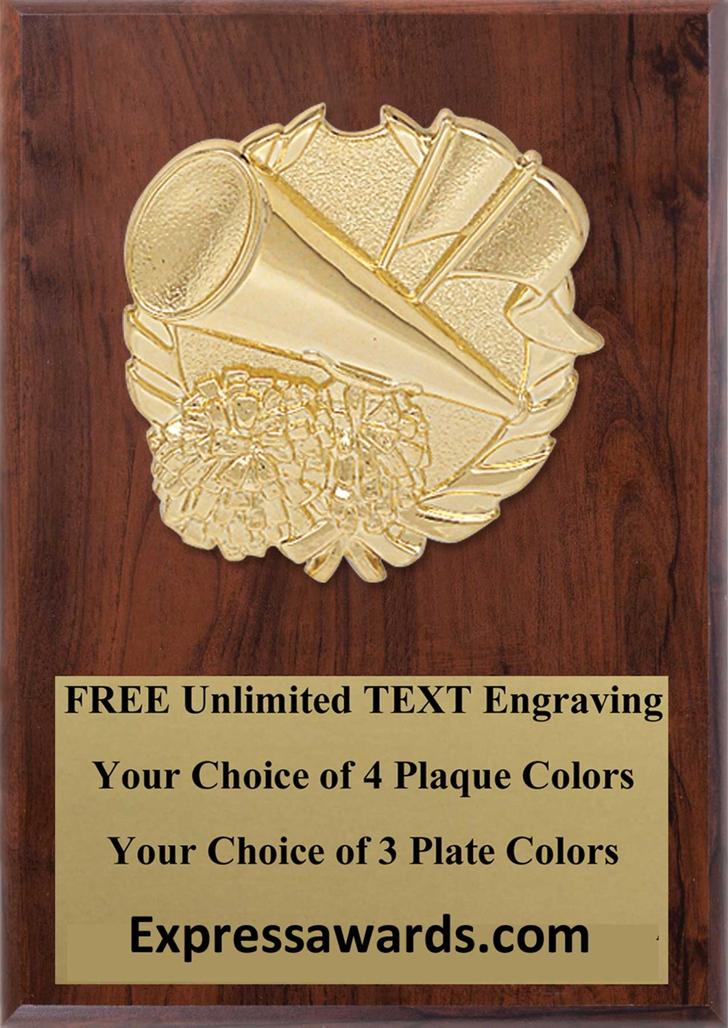 Cheerleading Plaque 4x6 & 5x7