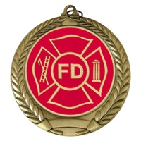 "2-3/4"" Fire Department Mylar Medal"