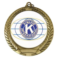 "2-3/4"" Kiwanis International Mylar Medal"