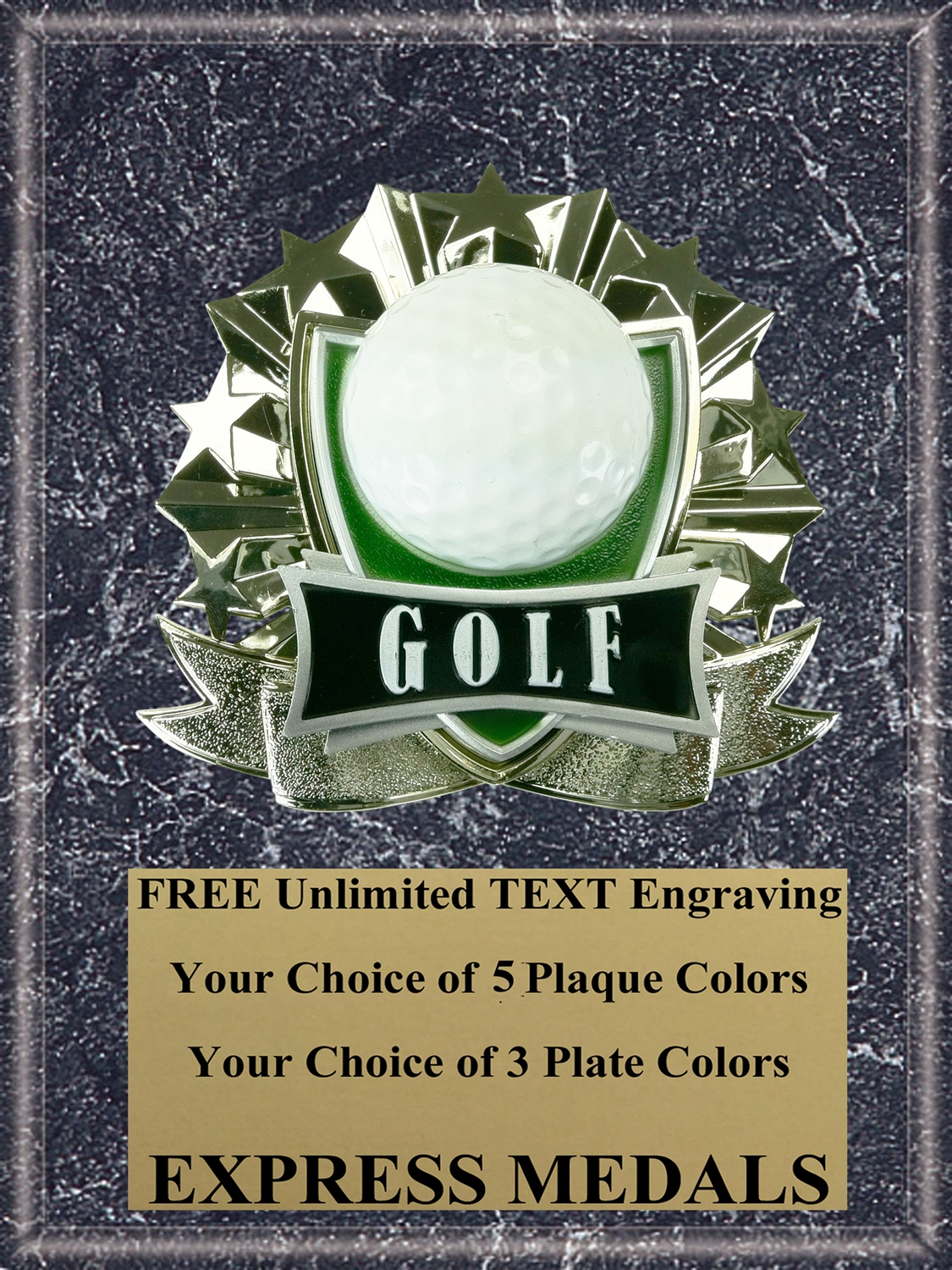 All-Star Golf Plaque (4 Sizes) (PM1267)