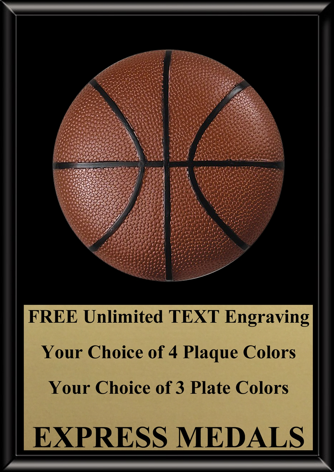 Basketball Plaque 4x6 & 5x7 PM3133-VL