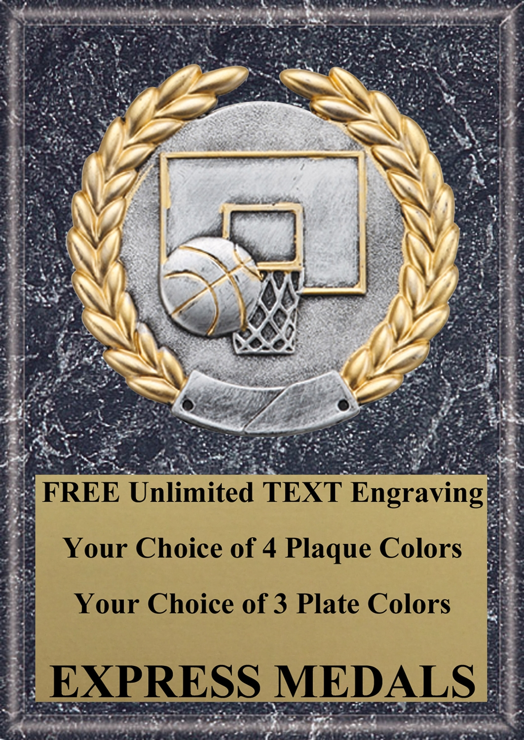 Platinum Basketball Plaque 4x6 & 5x7 PM5103-VL