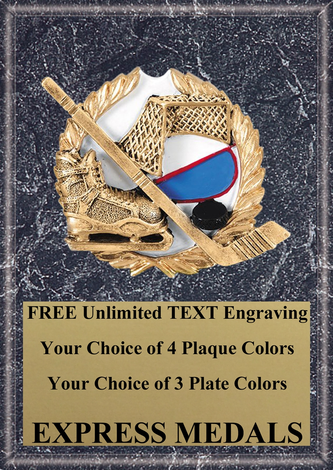 Full Color Hockey Plaque 4x6 & 5x7 PM657-VL