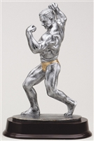 "Large 11"" Male Body Builder Trophy"