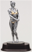 "Large 9"" Female Body Builder Trophy"