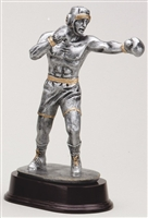 "Large 8"" Male Boxer Boxing Trophy"