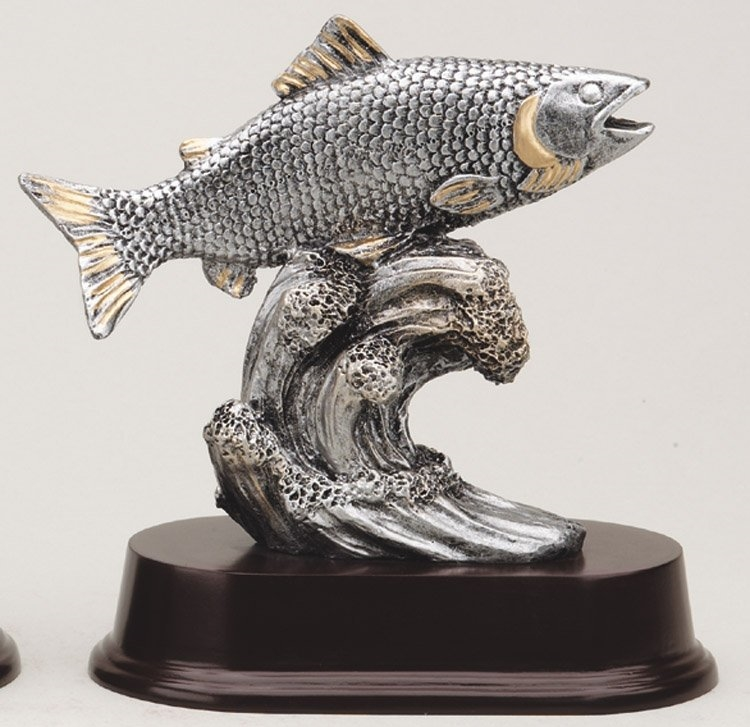 "6"" Large Fish Fishing Trophy"