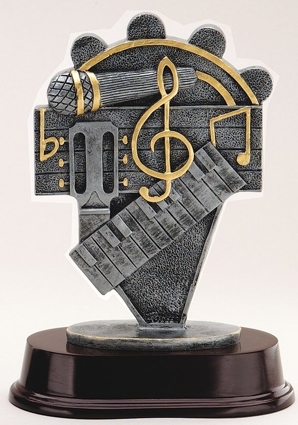 "8"" DJ Microphone Music Trophy Award"