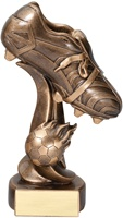 "7-1/2"" Fireball Soccer Cleat Trophy"
