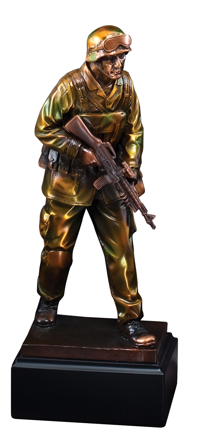 "12"" Military Trophy Sculpture"