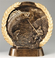 "7-1/2"" High Relief Fishing Plate Award"