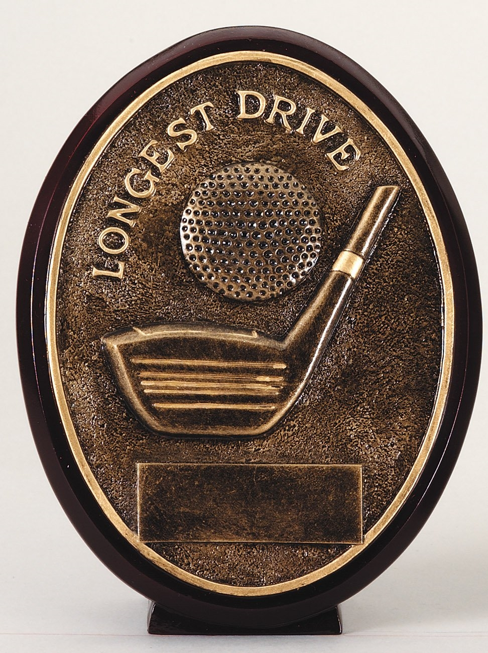 Longest Drive Golf Resin Trophy Plaque