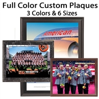 Express Full Color Custom Plaques 3 Colors - 6 Sizes