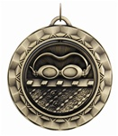 "2-5/16"" SPINNING Swimming Medal SP340"