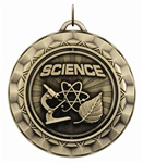 "2-5/16"" SPINNING Science Medal SP352"