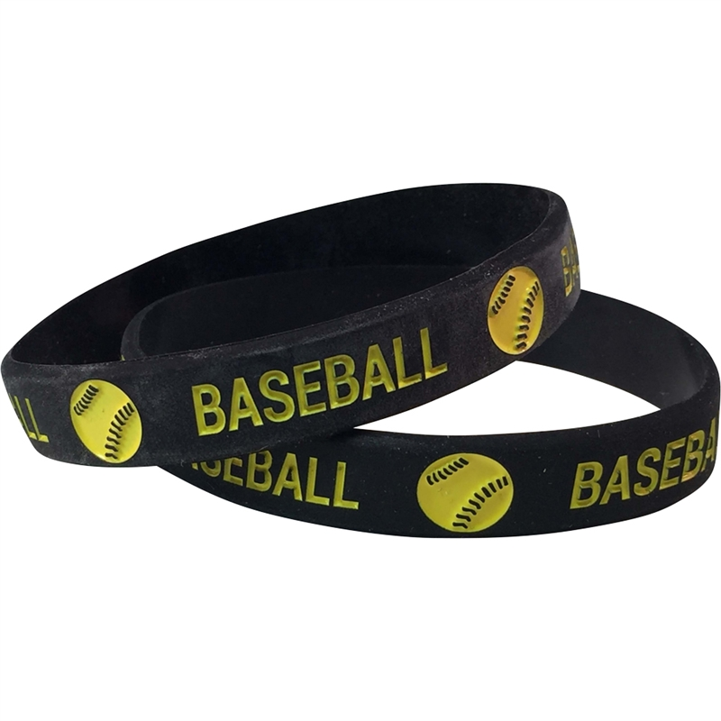Baseball Wrist Band Silicone Baseball Wrist Band