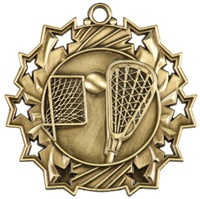 "2-1/4"" Ten Star LaCrosse Medal TS409"