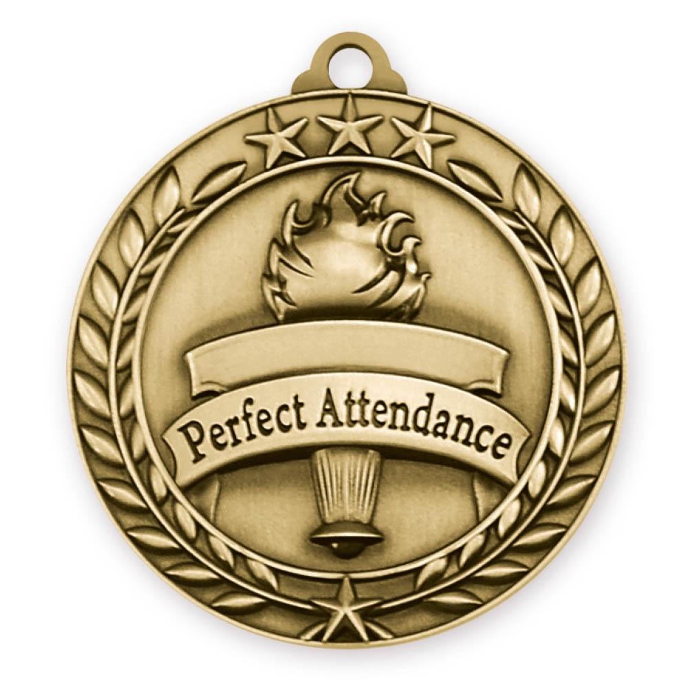 "2-3/4"" Perfect Attendance Medal"