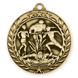 "1 3/4"" Triathlon Medal"
