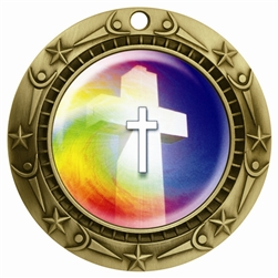 "3"" WCM Full Color Religious Medal"