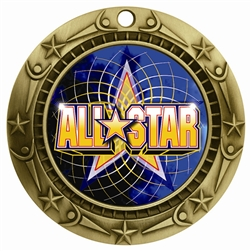 "3"" WCM Full Color All Star Medal"