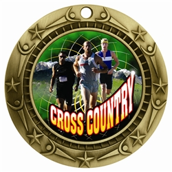 "3"" WCM Full Color Male Cross Country Medal"