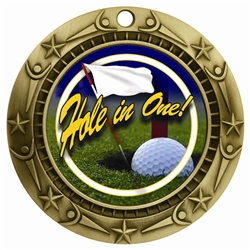 "3"" WCM Full Color Hole In One Medal"