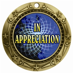 "3"" WCM Full Color In Appreciation Medal"